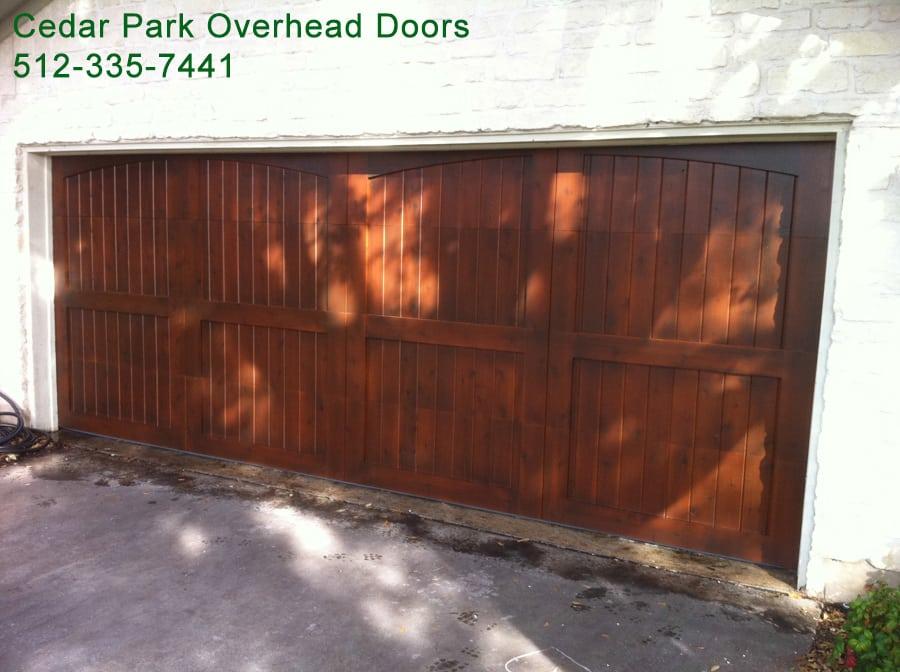 Custom Wood Garage Doors In Austin Tx Cedar Park Overhead Doors In