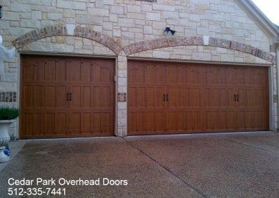 custom wood free garage door in austin tx cedar park overhead doors in austin tx. Black Bedroom Furniture Sets. Home Design Ideas